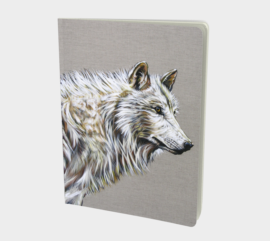 Beautiful perfect bound books for writers. Great gifts for writers or people who like to scribble. Dream Journals. Books with art from Canadian artist Leah Pipe. The Matriarch. Wolf book