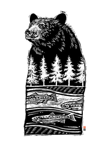 Bear River, Dreaming of Salmon - Fine Art Print