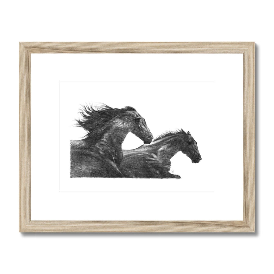 The Wind Horses - Framed & Mounted Print