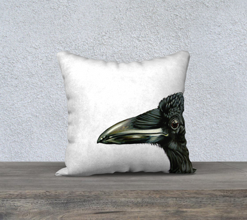 Ravens are outside in all weather conditions. Some times we don't consider how well these guys bold creatures stand up to all weather with such grace. Face your storms with a raven heart.  Our pillowcases adorned with a print from Canadian artist Leah Pipe add the perfect accent to any room. Go soft and snuggly with velveteen fabric, or modern in our durable cotton linen canvas. Each pillowcase is printed and sewn in Montreal, Canada and bears the distinctive Leah Pipe signature on the back.