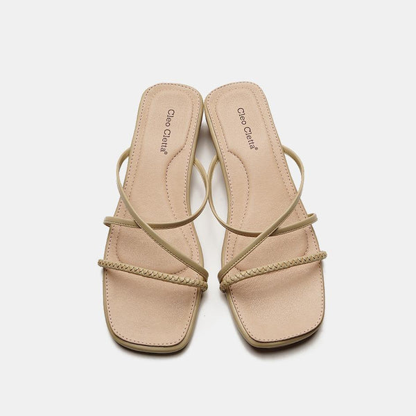 Elina Cream Slippers