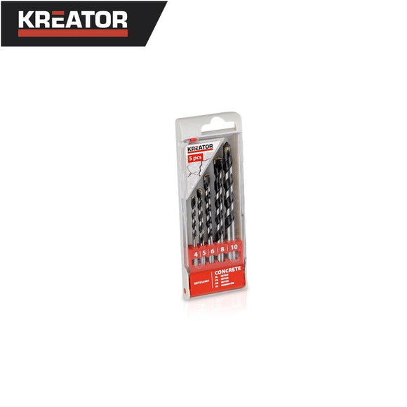 Kreator 5pcs Concrete Drill Bit Set