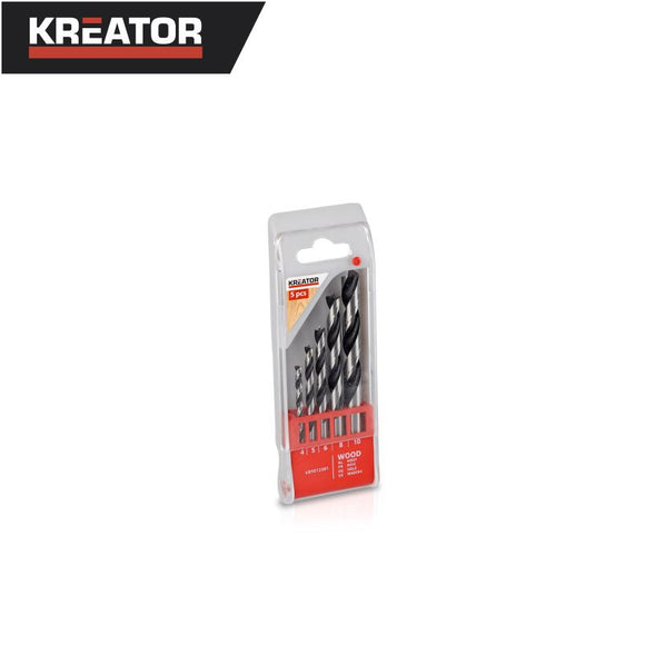 Kreator 5pcs Wood Drill Bit Set