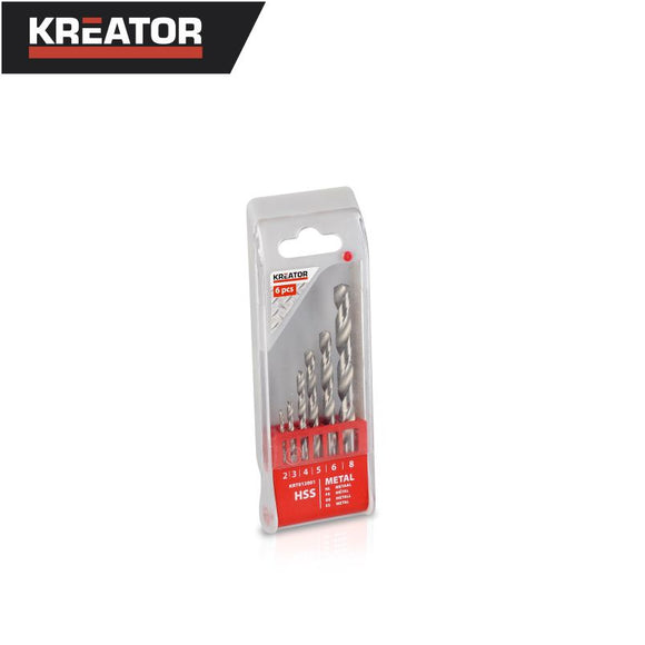 Kreator 6pcs HSS Metal Drill Bit Set