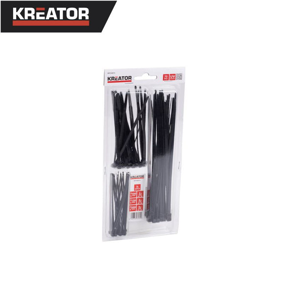 Kreator 75pcs Cable Tie Set (Black)