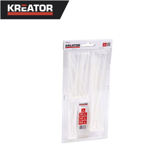 Kreator 75pcs Cable Tie Set (White)