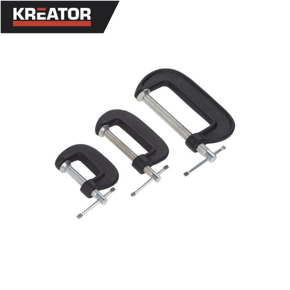 Kreator 3pcs G-Clamp Set