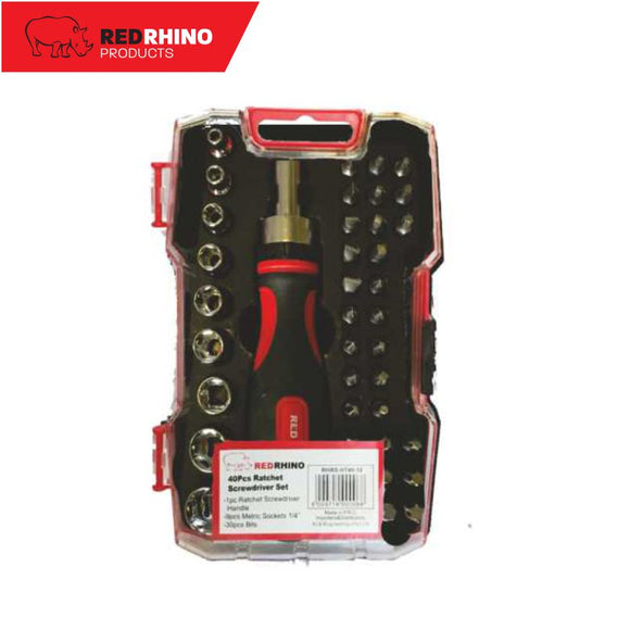Red Rhino Ratchet Screwdriver Set