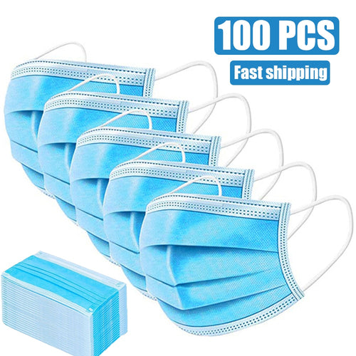 100PCS PROTECTION ANTI-DUST ANTI CORONAVIRUS MOUTH FACE MASKS
