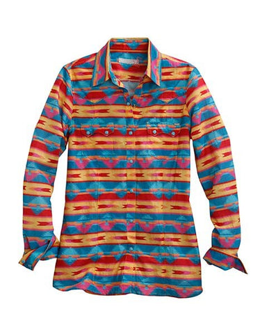 Horizontal Multi-Colored Aztec Print Shirt