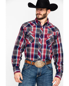 Red Plaid Snap Western Shirt