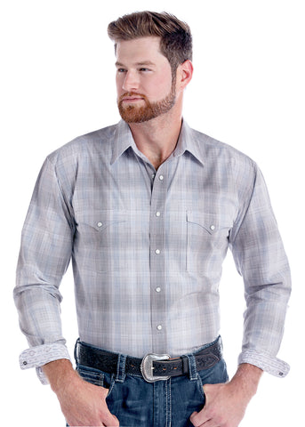 Modern Plaid Snap Shirt