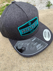 Dark Grey Cloth Snapback with Teal Logo