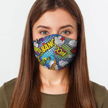 Load image into Gallery viewer, Kids Comic Virus Protection Face Mask