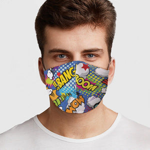 Kids Comic Virus Protection Face Mask