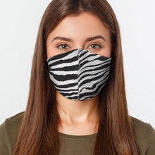 Load image into Gallery viewer, Zebra Print Virus Protection Face Mask