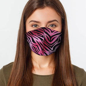 Pink Tiger Print Virus Protection Face Mask