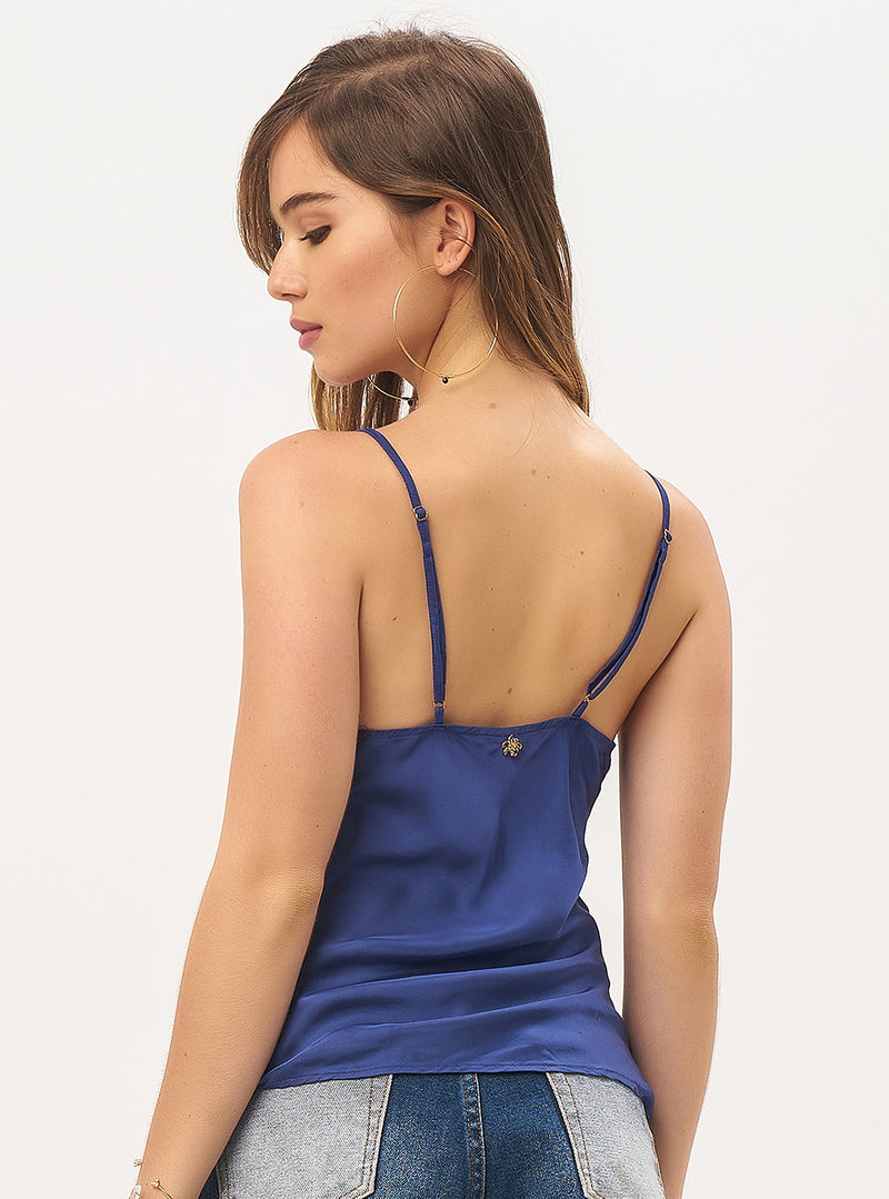 Claude Satin Strappy Camisole
