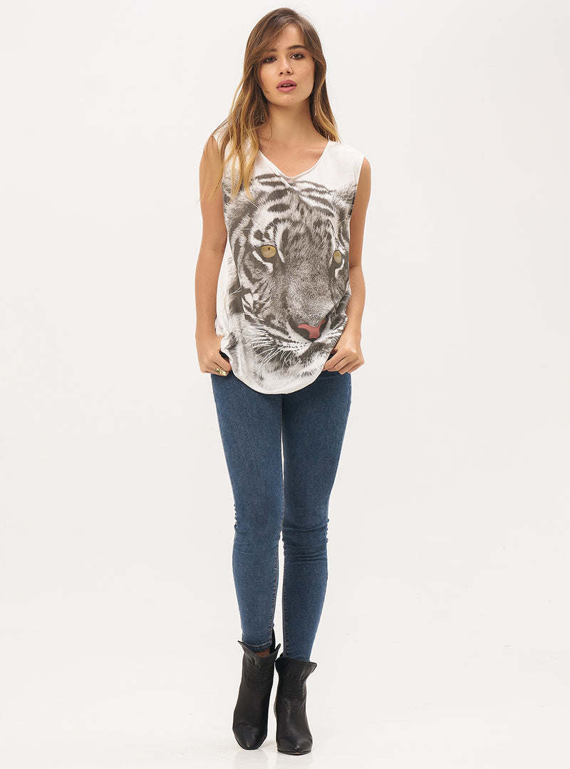 Boy Cut Tiger Singlet - Lily Jean