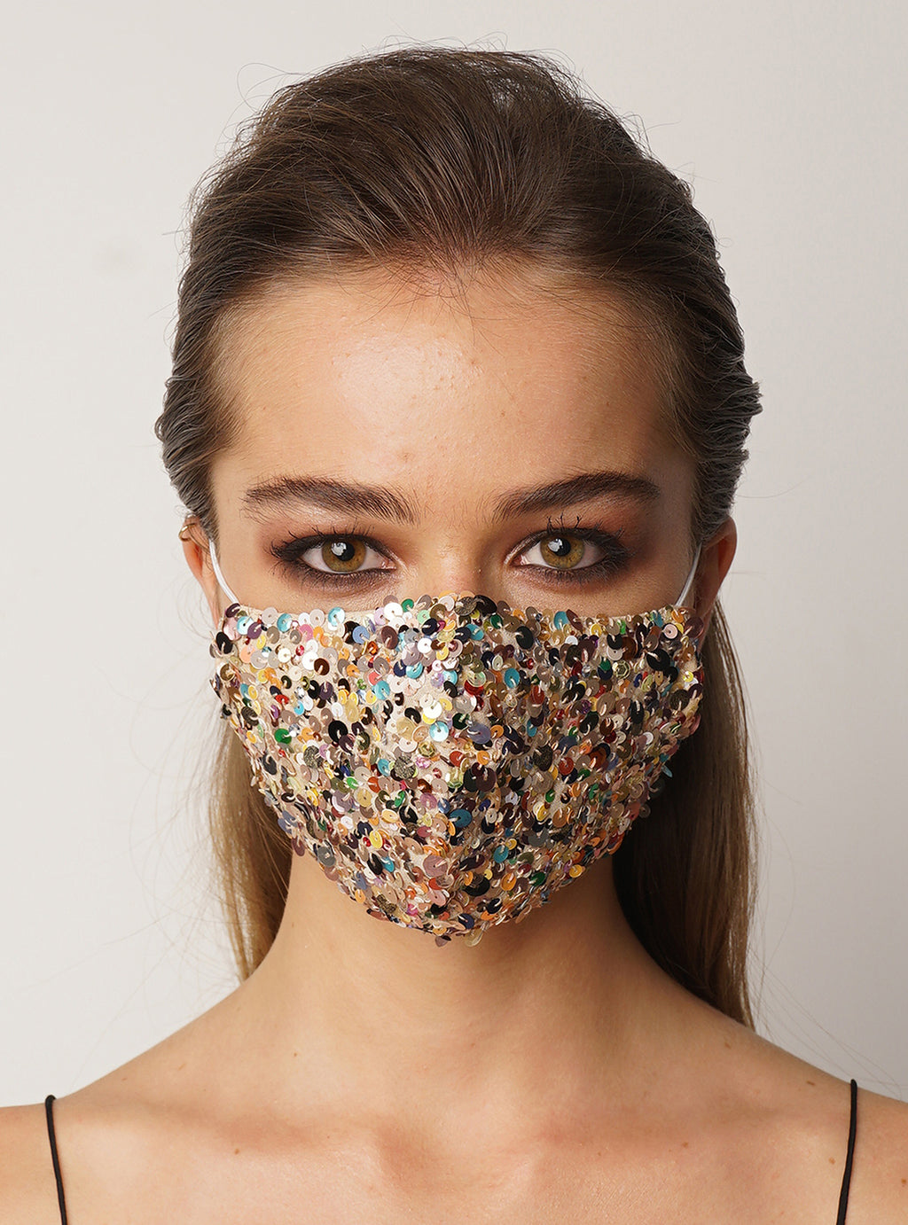 Mask Rainbow Beaded - Lily Jean