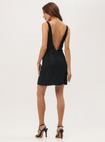Beaded Little Black Dress - Lily Jean