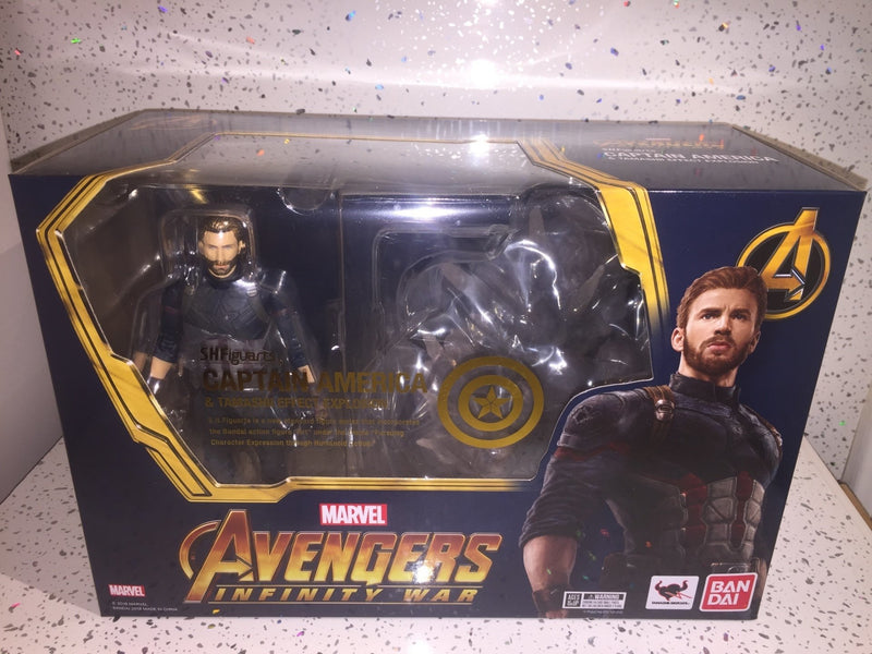 AVENGERS INFINITY WAR CAPTAIN AMERICA & TAMASHII EFFECT EXPLOSION SH Figuarts