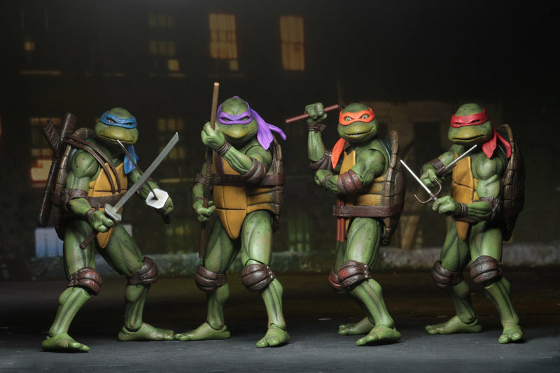 NECA TMNT 1990 MOVIE AF SET 4
