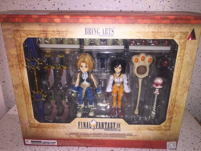 FINAL FANTASY IX BRING ARTS - ZIDANE TRIBAL & GARNET TIL ALEXANDROS 17TH SET