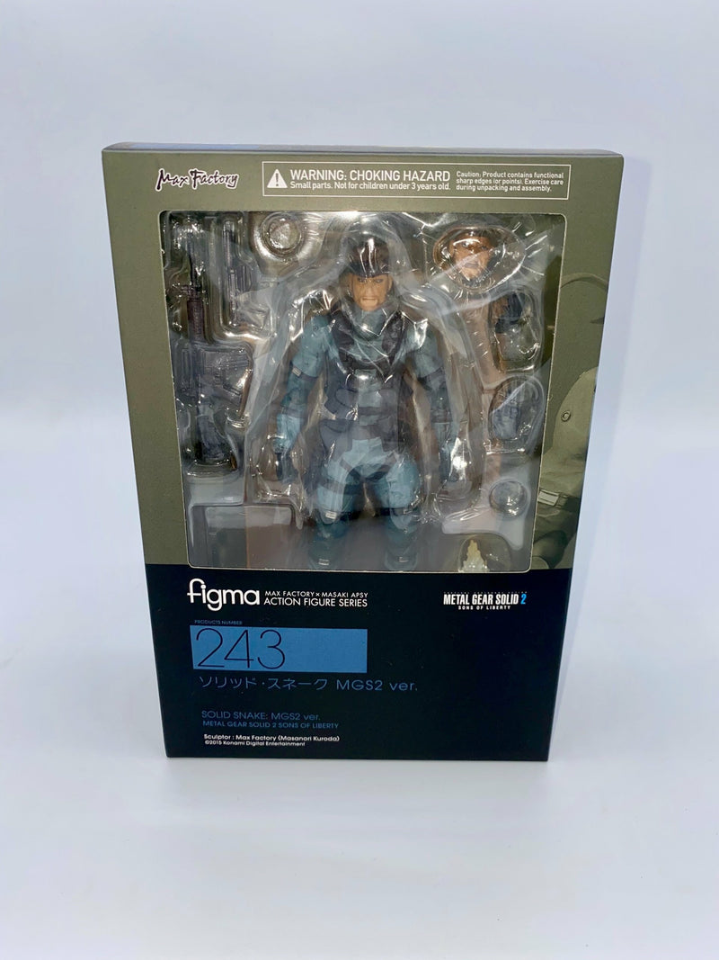 Metal Gear Solid 2 Sons of Liberty Figma Solid Snake MGS2 Ver. 16 cm