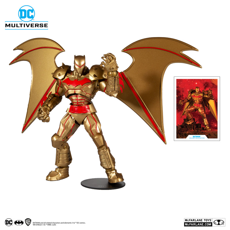 *PRE ORDER* McFarlane Toys DC MULTIVERSE BATMAN HELLBAT SUIT - GOLD EDITION (ETA MAY)
