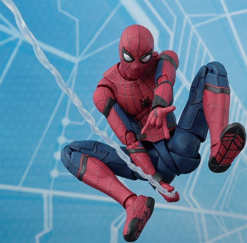SPIDER-MAN HOMECOMING W/ACT WALL SH Figuarts