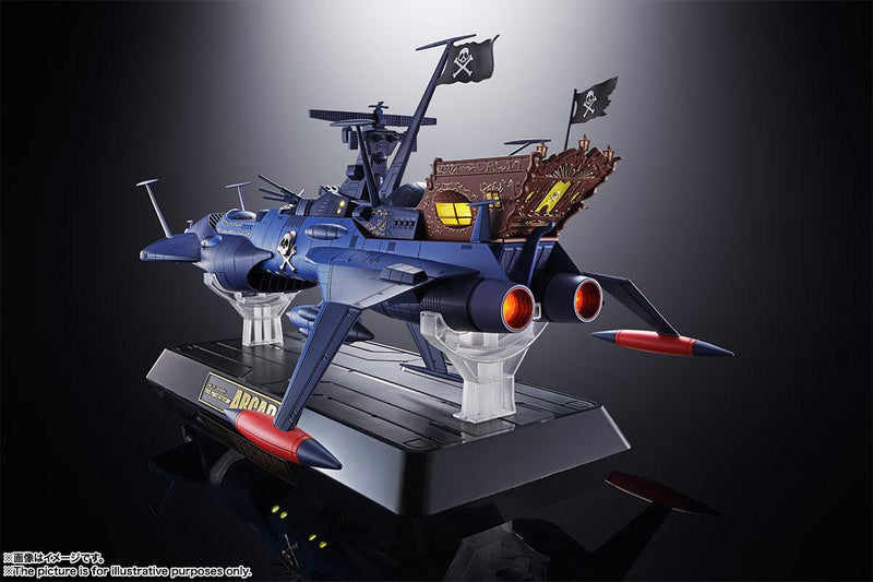 *PRE ORDER* Space Pirate Captain Harlock Soul of Chogokin Diecast Model GX-93 Battleship Arcadia (ETA JANUARY)