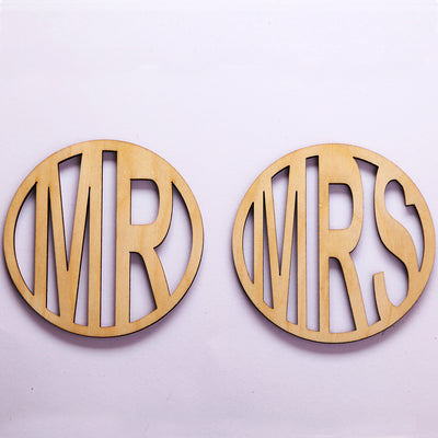 Mr & Mrs Wooden Coasters - THD-The Happy Dreams