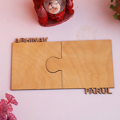Personalized Name Cut out wooden Coasters for Couple - THD-The Happy Dreams