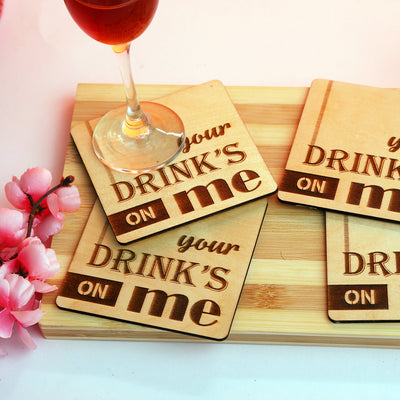 Your Drinks on Me Coasters - THD-The Happy Dreams