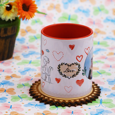 Personalized Red Mug for Couple - THD-The Happy Dreams