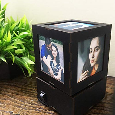 Rotating Personalized Photo Lampshade - THD-The Happy Dreams