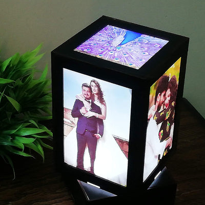 Rotating Personalized Photo Lampshade Tower - THD-The Happy Dreams