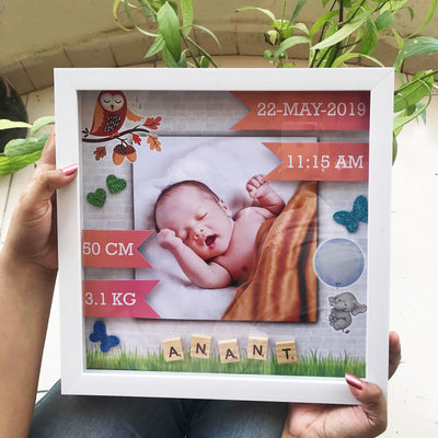 Personalized gift for childbirth in the box frame - THD-The Happy Dreams