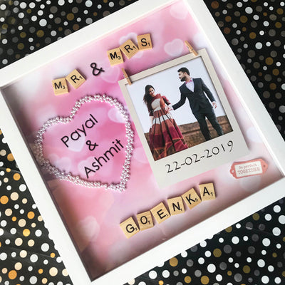 Personalized Wedding Mr & Mrs Frame - THD-The Happy Dreams