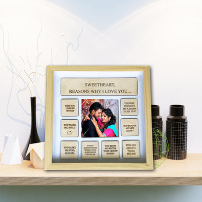 Personalized Reasons Why I love you Frame - THD-The Happy Dreams