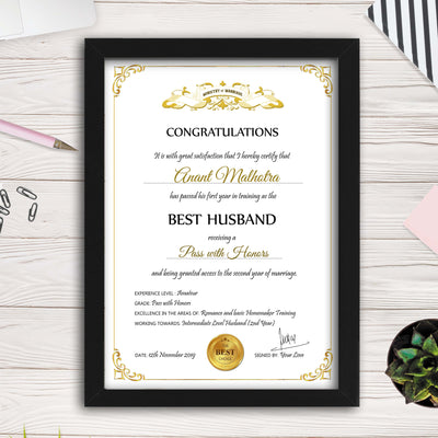 Personalized Certificate for World's Best Boyfriend - THD-The Happy Dreams