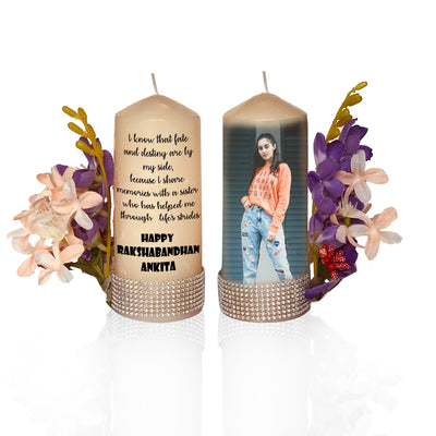 Customized Set of 2 Pillar Candles - THD-The Happy Dreams