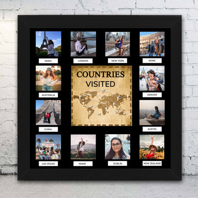 Countries Visited - Photo Frame - THD-The Happy Dreams