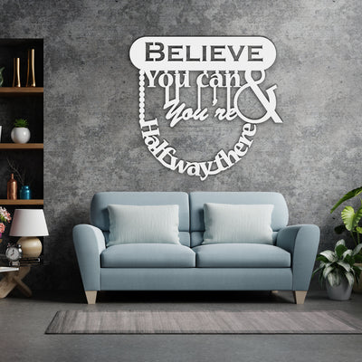 Wooden Wall Hanging | Believe You Can & You're Halfway There