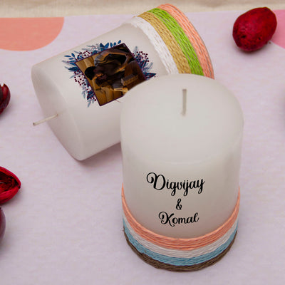 Personalised Candles for Couples - Set of 2 - THD-The Happy Dreams