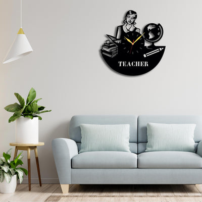 Wooden Personalised Tecaher Wall Clock | Wooden Wallclock | Teacher's Gift