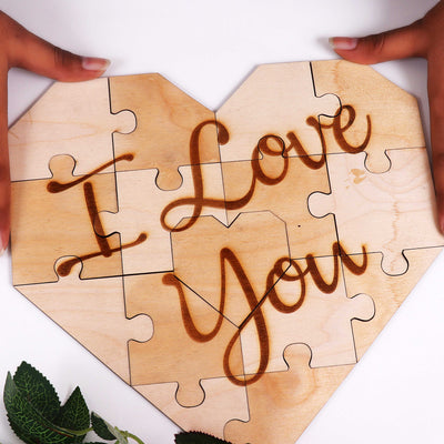 """I Love You"" Jigsaw Puzzle - THD-The Happy Dreams"