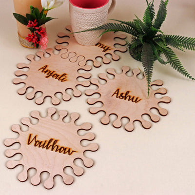 Hexagon Interlocking Personalized Coaster - THD-The Happy Dreams
