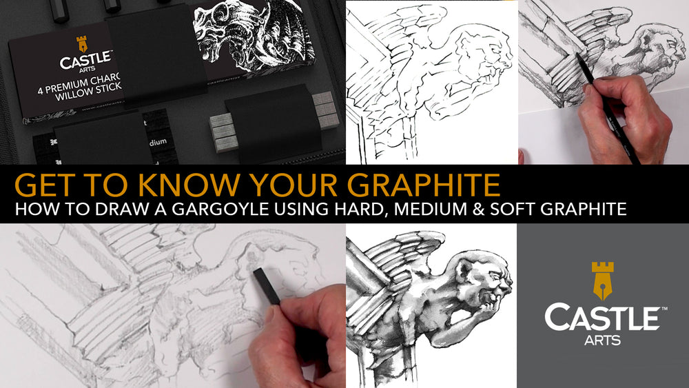 How to Draw a Gargoyle Using Graphite Pencils & Sticks